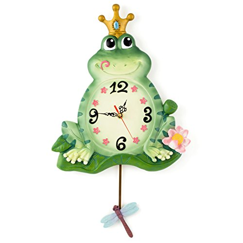 The Frog Prince Swings The Wall Clock,Creative Personality Stylish Modern Simple European Style Living Room Clock Silent Wall (Frog Prince Clock)