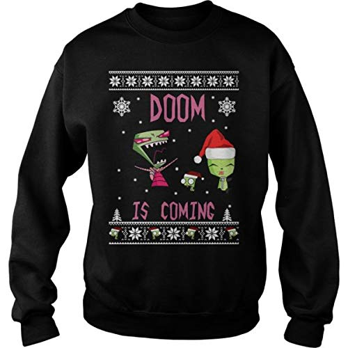 Invader Zim Doom - Doom Is Coming Christmas Sweater (Sweater Christmas Zim)