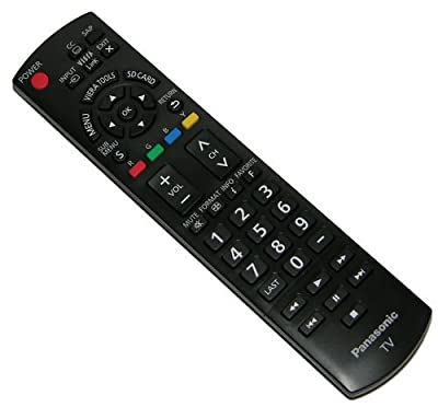 Panasonic N2QAYB000485 Remote Control Compatible with select Panasonic Models, Black