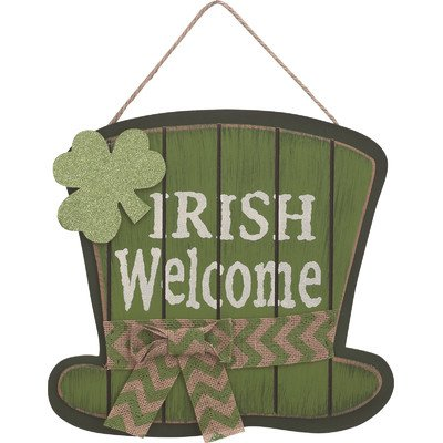 Irish Welcome Hat Sign - st Patrick's wall art
