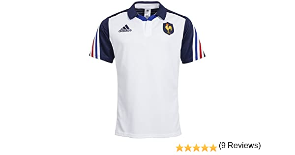 Adidas - Camiseta de rugby de la selección francesa, temporada 2013/14, color blanco y azul marino, Hombre, color N/A, tamaño medium: Amazon.es: Ropa y accesorios