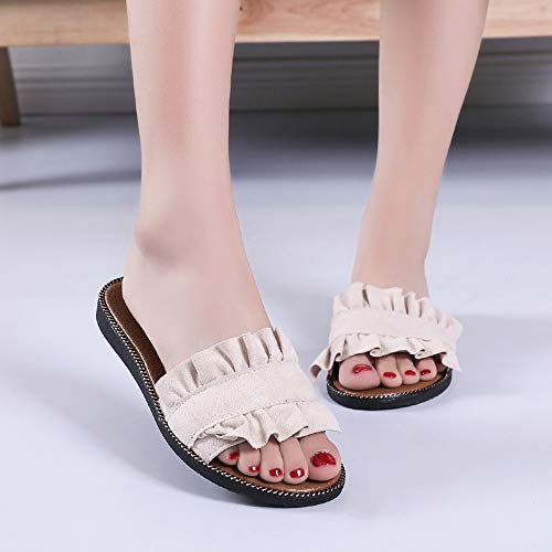 Creux À Respirant Jardin Moika Uniques Claquettes Femme Tongs Plats Bout Talons De Chaussures Beige Mules Ouvert Doux qZzZXE