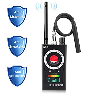Anti Spy Detector, RF Signal Detector & Camera Finder, Radio Frequency RF Detector, Wireless Hidden Camera Detector for GPS Tracking GSM Listening Device Finder