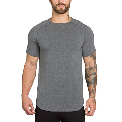 Gymnases Magiyard Blouse Crossfit Manche shirt Aptitude T Hommes Musculation Gris Courte Top La Muscle BqASHq