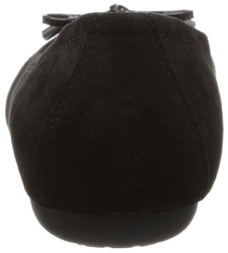 mujer Geox lona LOLA Schwarz de Negro C9999 D Bailarinas A Black fxU6awqHf