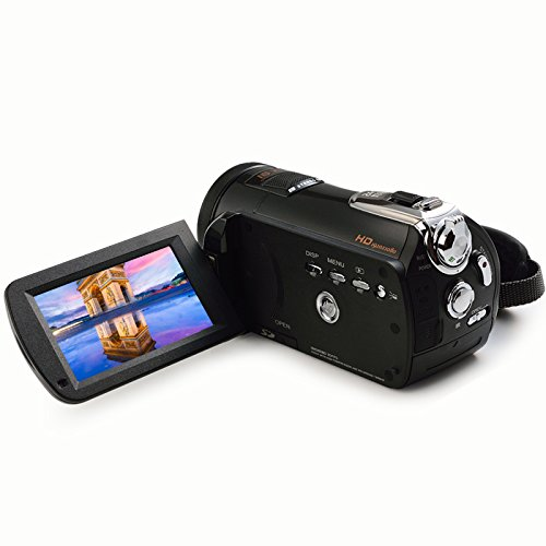 GordVE KG170901 Portable Digital Video Camera 24MP HD Camcorder with 3-inch LCD & 18x Digital Zoom
