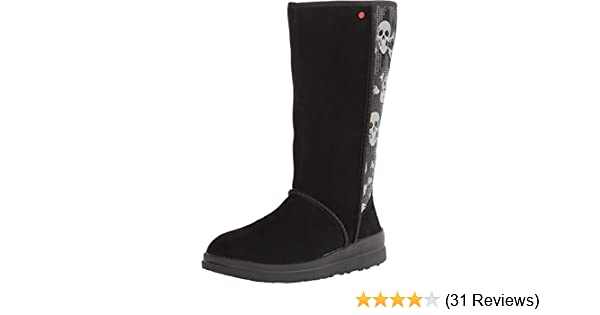 69f8ad76d2a Amazon.com | UGG Women's Kisses Tall Black Sequin Skull Suede Boot ...