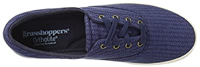 Grasshoppers Women's Janey Leather Lace-Up Sneaker