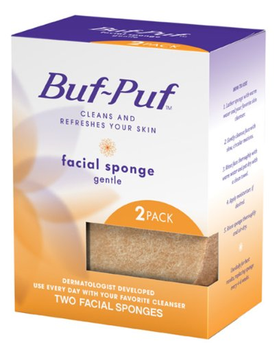 Buf-Puf 3m Facial Sponges, Gentle, 2 Count