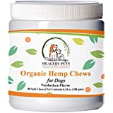 Organic Dog Treats - Hemp Chews 90ct - Natural Calming Treats for Dogs - Delicious & Relaxing Chews for Dog Anxiety Relief - Hemp Powder, Hemp Oil for Dogs, Chamomile for Joint Pain & Dog Calming Aid
