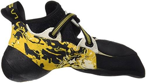 La Sportiva Solution - Pies de gato Hombre Blanco / Amarillo