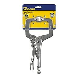 IRWIN VISE-GRIP Original Locking C-Clamp with Swivel Pads, 11\