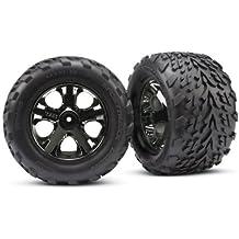 Traxxas 3669A Talon 2.8-Inch Tires Assembled on All-Star Black-Chrome Wheels