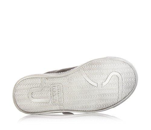 NERO GIARDINI - Baskets grises, en suède, double velcro, logo latéral en caoutchouc, garçon,garçons,enfant