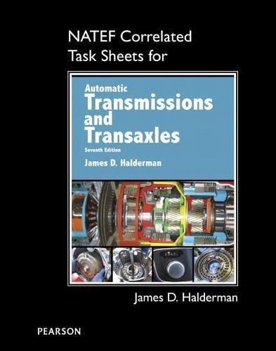 NATEF Correlated Task Sheets for Automatic Transmissions and Transaxles
