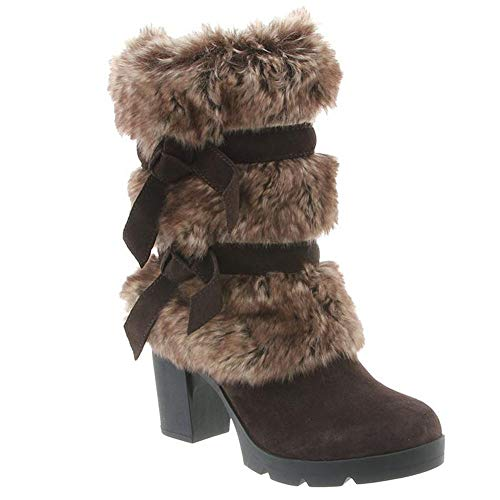 Faux Boots Fur Lined - BEARPAW Women's Bridget Chocolate/Tipped 8 M US M