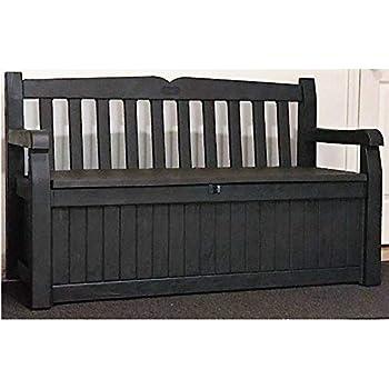 Amazon Com Keter Eden 70 Gallon Storage Bench Deck Box
