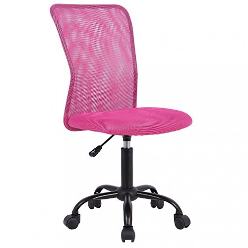 Mid Back Mesh Ergonomic Computer Desk Office Chair, Pink 1 Pack