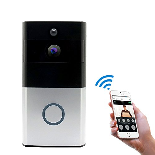 MIGOOZI Wi-Fi Video Doorbell,Wireless Smart Doorbell 720P HD WiFi Security Door Camera,Real-Time Two-Way Talk Video,Night Vision, PIR Motion Detection App Control iOS Android by MIGOOZI
