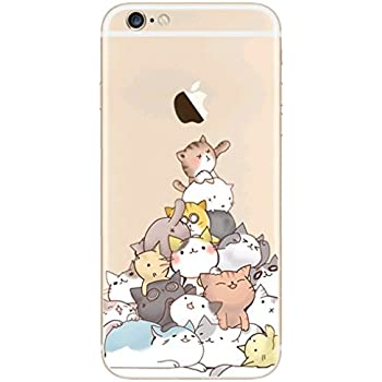 reputable site 8916a befed iPhone 6/6S Case,Blingy's Funny Animal Style Flexible Soft TPU Rubber Case  for iPhone 6/6S (New Cat Pile)