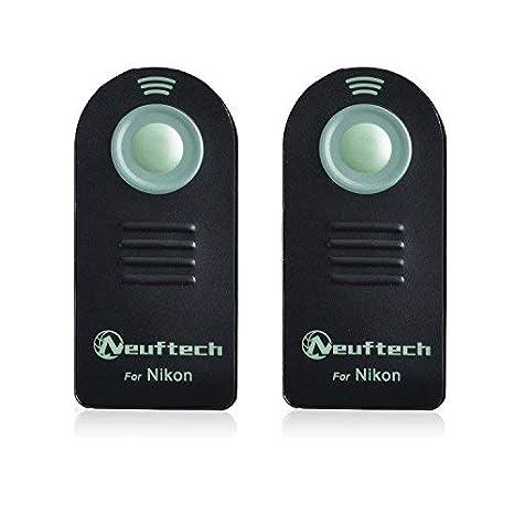 Neuftech 2x mando a distancia inalámbrico para cámaras nikon D5300 ...
