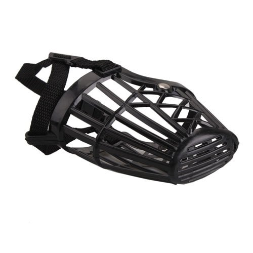 Nylon Basket Cage Adjustable Pet Dog Muzzle Black Size-5, My Pet Supplies