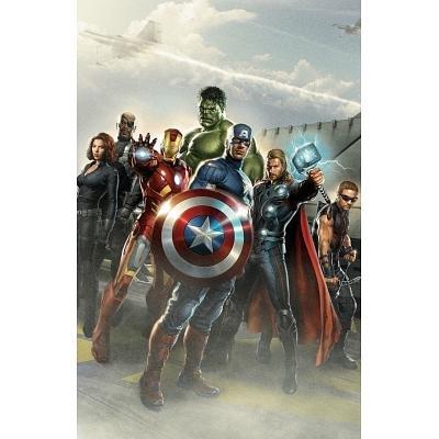 The Avengers Standing Marvel Movie Poster