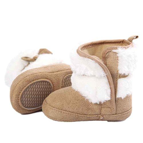 Ecosin Bowknot Boots Prewalker Toddler