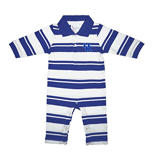 Two Feet Ahead Kentucky Wildcats NCAA College Infant Baby Rugby Striped Leg Romper (6 Months) ()