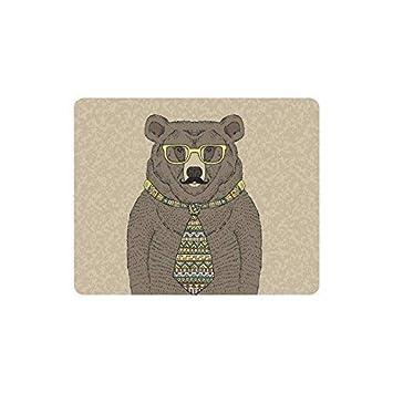 Luancrop Funny Hipster Bear en Corbata y anteojos con Bigote ...