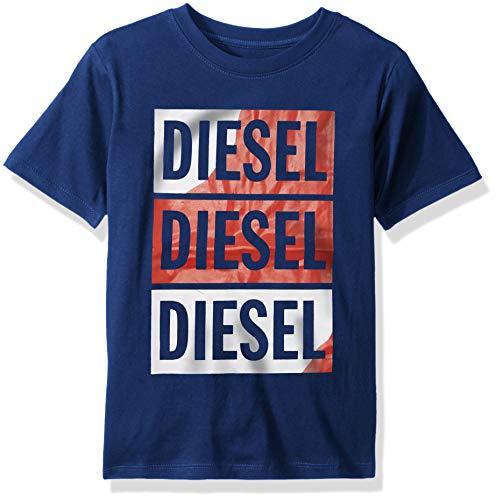 (Diesel Boys' Little Short Sleeve T-Shirt, Boxed Art Estate Blue, 5)