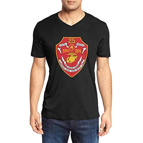 3rd Battalion 7th Marine Regiment - 3rd Battalion 25th Marine Regiment of United States Mariners Corps Adults' Walking V-Neck Short Sleeve Soft Tee