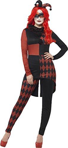 Sinister Jester Costume Large Uk Dress 16-18