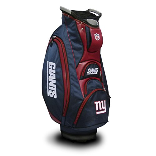 Team Golf NFL New York Giants Victory Golf Cart Bag, 10-way Top with Integrated Dual Handle & External Putter Well, Cooler Pocket, Padded Strap, Umbrella Holder & Removable Rain Hood