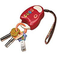 B. toys – FunKeys Toy – Funky Toy Keys for Toddlers and Babies – Toy Car Keys and Red remote with Light and Sounds – Non-Toxic