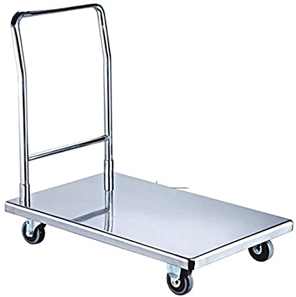 Oceans Commercial Stainless Steel Dismounting Flat Cart(Round Tube)