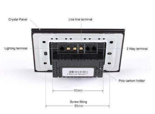 NIMTEK US/AU Standard, VL-C302R-82 ,110~250V Wireless Remote 433.92MHz Control Home Light Switch + LED Indicator by NIMTEK (Image #3)