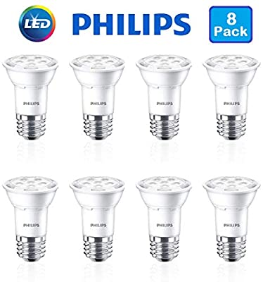 Philips (8 Pack LED Flood Light Bulbs Indoor 50W Equivalent 7W Dimmable White 500 Lumens Bright Bulk