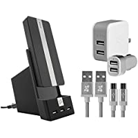 Ubio Labs 10,000mAh Portable Power Bank with Wall/Car Charger Kit and USB Cables