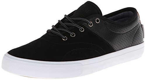 Dekline Men's Bixby Skate Shoe,Blake Black/White,10 M (Dekline White Shoes)