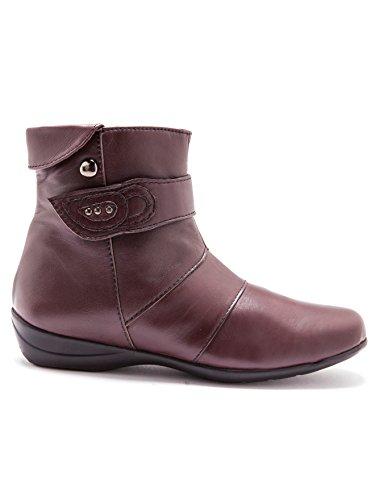 À Patte Doublés Bordeaux Pediconfort Boots Polaire Fantaisie vx155Bwn