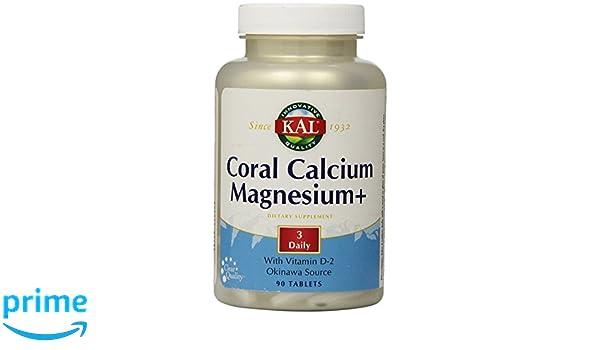 Coral Calcium+ Magnesium 90 Tabletas Kal: Amazon.es: Salud y ...