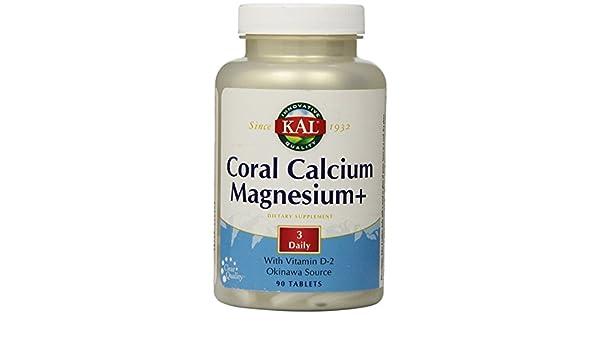 Coral Calcium+ Magnesium 90 Tabletas Kal: Amazon.es: Salud y cuidado personal