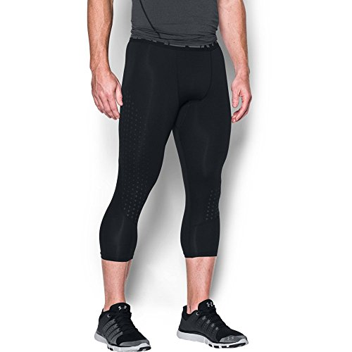 Under Armour Men's HeatGear CoolSwitch Armour ¾ Compression Leggings, Black (001)/Graphite, Large