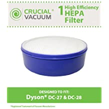 Dyson DC28 & DC27 Replacement Washable & Reusable Post HEPA Vacuum Cleaner Filter; Compare to Dyson DC28 Part# 915916-03; Designed & Engineered by Crucial Vacuum