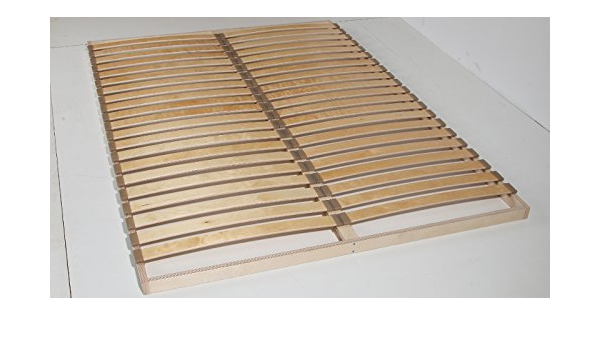Unbekannt Somier con Listones Flexibles de 20-40 cm de Ancho por Cada Superficie de Descanso, Listones de muelles de Aprox. 55 mm, Madera, Haya ...