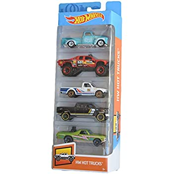 Amazon.com: Hot Wheels 2019 HW Hot Trucks 1:64 Scaled 5-Pack: Toys & Games
