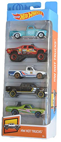 Hot Wheels 2019 HW Hot Trucks 1:64 Scaled 5-Pack