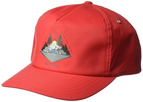 (Columbia Men's Washed Out Ball Cap, Mountain red, One Size)
