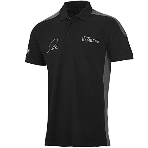 Mercedes AMG Lewis Hamilton Poloshirt 2015-schwarz S
